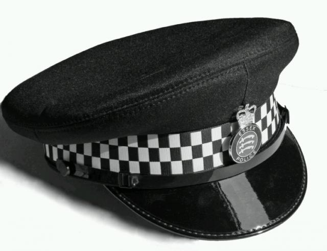Current Essex Police headwear worn by male police officers.