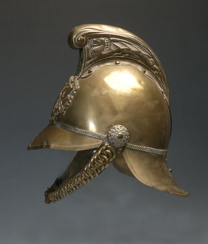 Early 20th century fireman's helmet