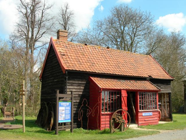 This Blacksmith's shop is from the Suffolk village of Grundisburgh. It was moved to MEAL piece by piece, it was originally built in the Eighteenth Century.