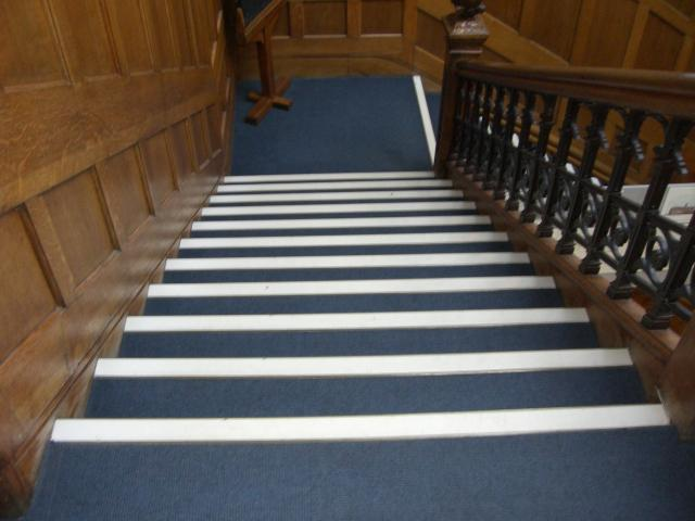 This is the Victorian sweeping staircase up to the first floor.