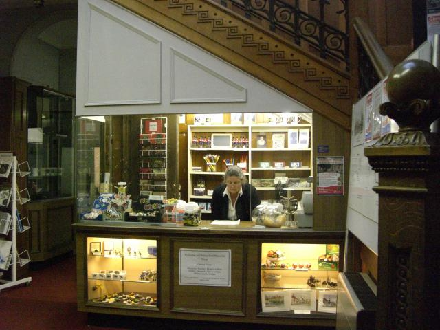 This is the Museum shop located in the Entrance Hall. There are pocket money treats on offer, like replica Victorian toys, pens, pencils and rulers. The shop also sells local interest books.