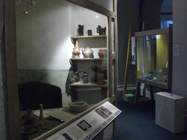 In 'The Story of Chelmsford' (located downstairs), you will find a reconstruction of a Tudor kitchen, showing finds from the area around Chelmsford including 'Bellarmine jugs'. Search on the internet to find out what these are.