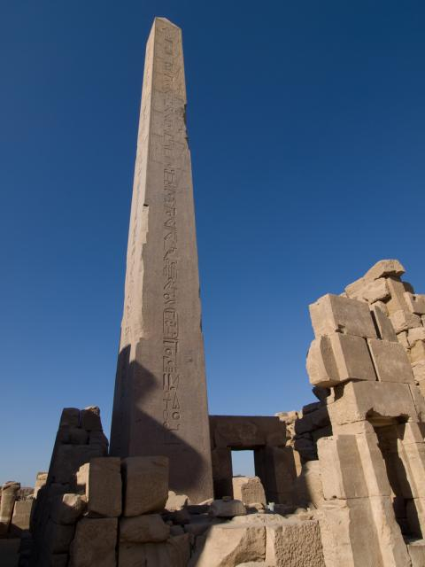 One of many Obelisks in the temple at Karnak.