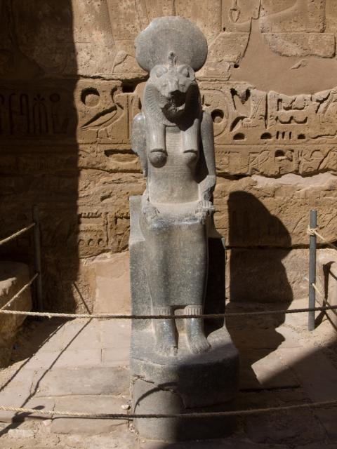 This is most likely to be Bast/ Sekhment. This is a statue of Bast/ Sekhment