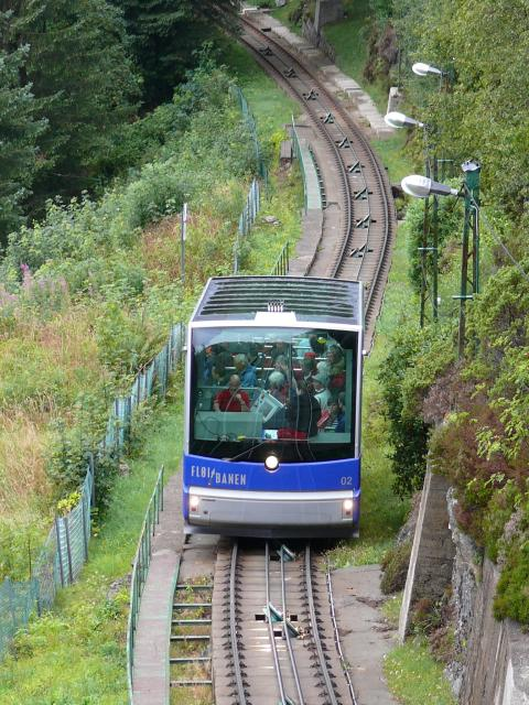 The Floibanen Funicular Railway is Scandinavia's only cable railway. The summit station is 320 metres above sea level giving panoramic views of Bergen and the surrounding area.