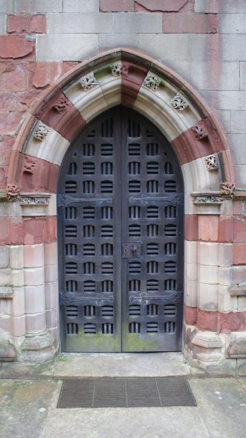 Door at All Saints Church,  Clive, Shropshire