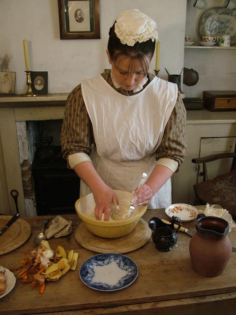 Victorian cook making dumplings