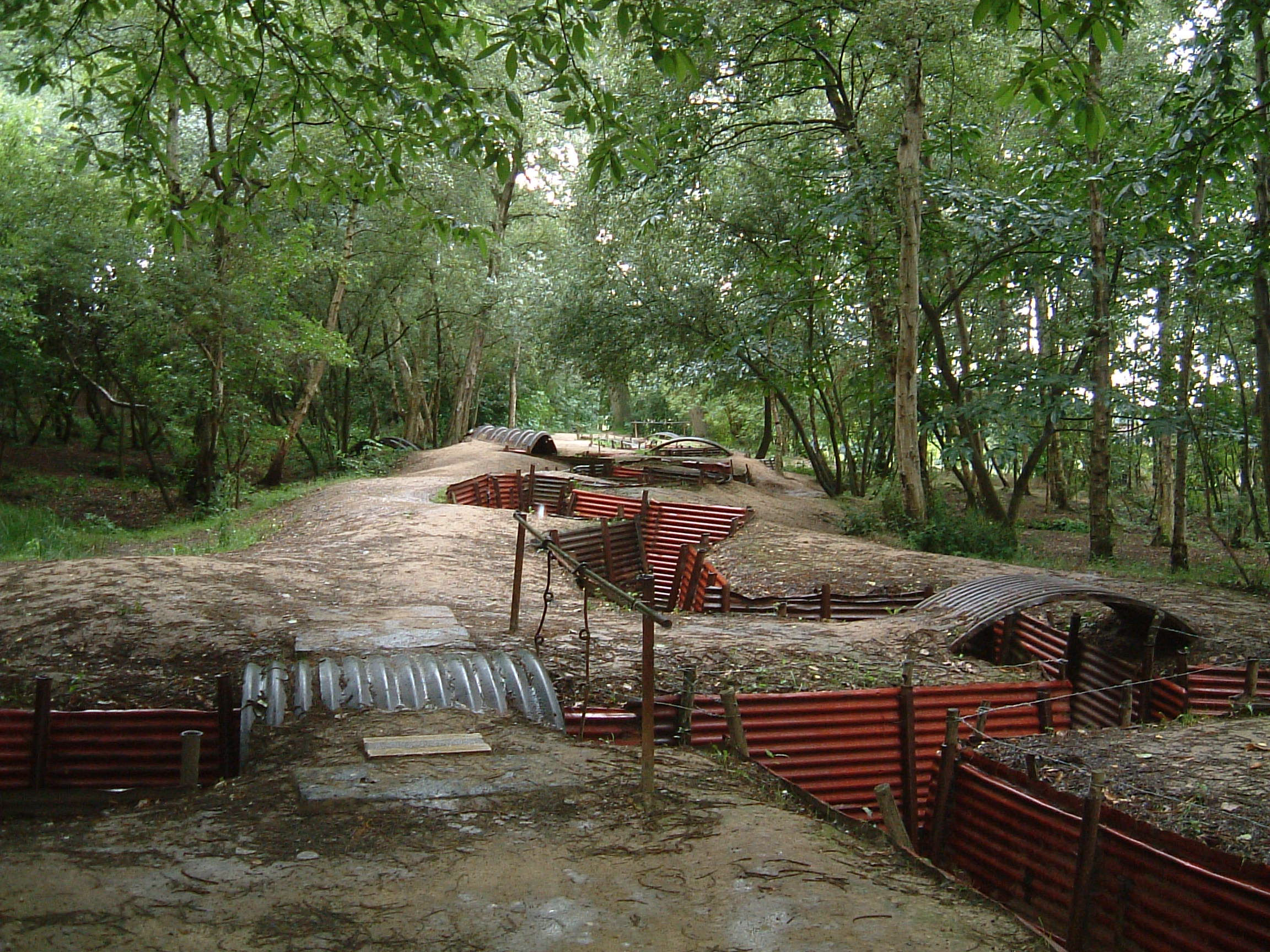 Some of the trenches from the first world war as they looked in 2002
