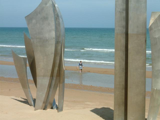 A view overlooking Omaha Beach as it looked in 2002