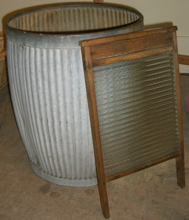 How did Victorians clean their clothes? With a lot of hard work! You had to scrub away the dirt using the washboard and soap, then use a washing dolly or posser to swich the clothes around the bucket or barrel.