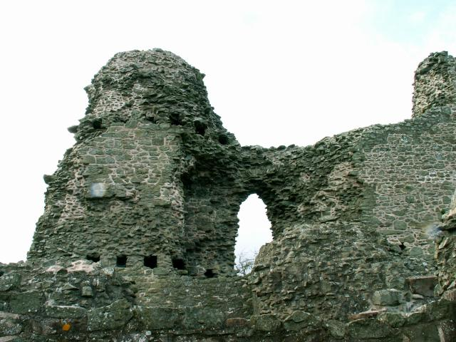 Ruins of the castle at Montgomery, Wales.