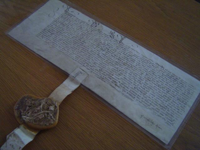 Bernarde Tylman or Tielman was the German father of Susanna, Jacob Wittewronge's first wife. This was his Letter of Denization granted by the King in 1541 which granted him the right to 'be English'.