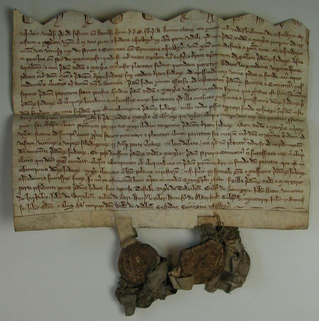 Ralph Buteman, a butcher, and his wife Margery made this agreement with the Jews of Norwich in June 1290. Buteman's shop had encroached on Jewish land. This agreement seems to show the spirit of co-operation and tolerance existing between the Jews and others in Norwich, even as they were about to be...