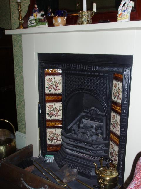 Fireplace and Hearth in the parlour of a Victorian House