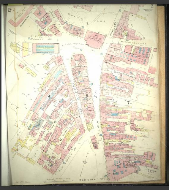 GOAD maps are detailed street maps showing buildings and their uses. They are named after Charles Goad who first produced these sorts of maps for Fire Insurance companies.