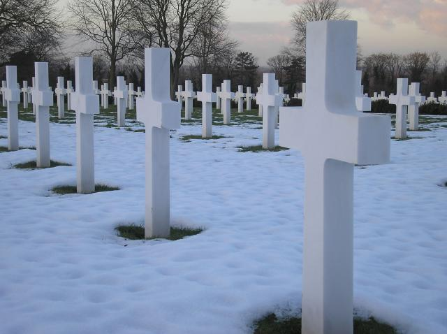 The American Cemetery at Madingley, just to the north of Cambridge was opened on 7th December 1943. It is the only American burial ground in England which is dedicated to the servicemen who fought in World War Two. There are 3,800 white crosses and the Portland stone wall is inscribed with 5,000 nam...