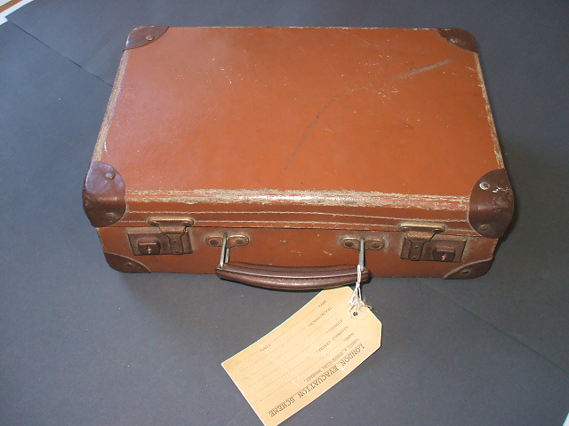 A suitcase filled with primary resources from World War 2. A collection of artefacts which a child may have had in the second world war... an evacuee's suitcase.