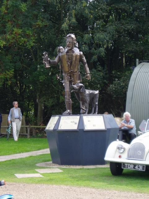 A statue of an RAF Sergeant Pilot of 1940, sculpted by Paul Richardson, which was unveiled by Wing Commander Tom Neil in July 2000 to mark the 60th Anniversary of the Battle of Britain.