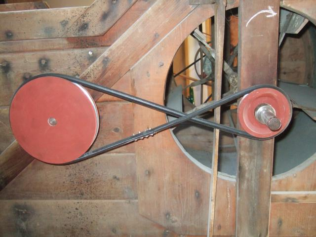 Pulleys Key Stage 2 : Pulley wheels on the grain cleaner e bn gallery