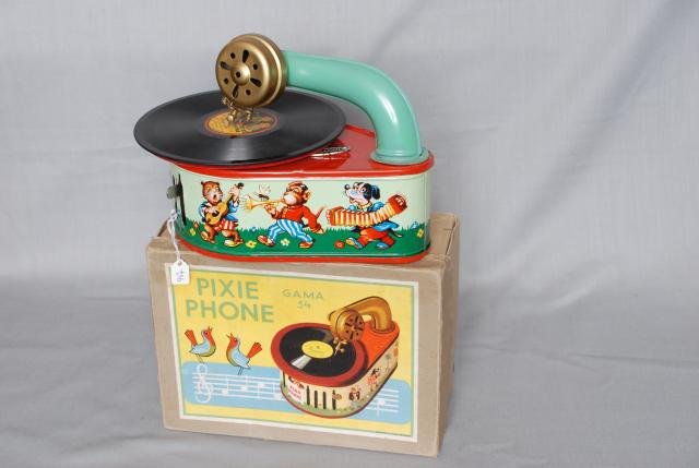 A toy gramophone c1940's