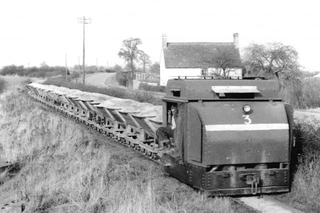 Increasing sand production for World War 1 factories led to serious damage to local roads. The 2ft gauge railway built after the war solved the problem, and recycled some of the military equipment for peacetime use.