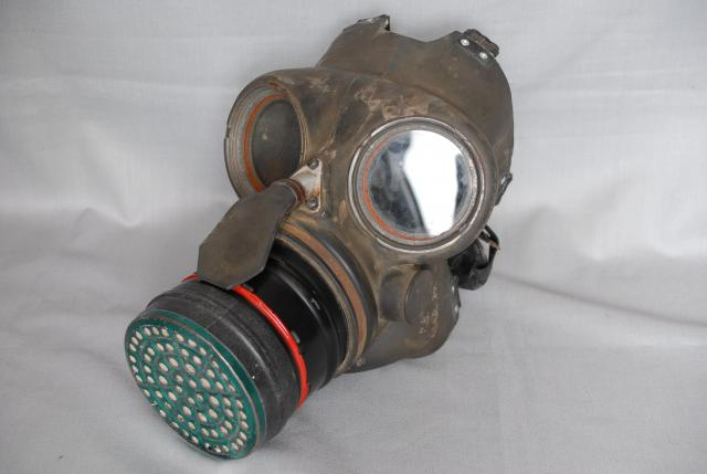 This is an example of an adults gas mask