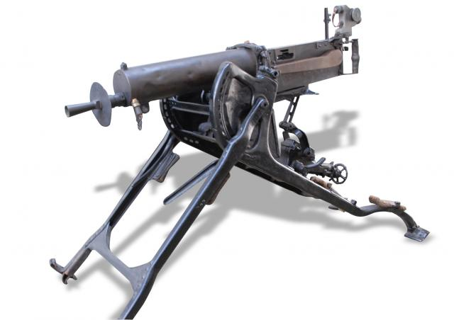 The MG08 was the first standard heavy machine gun used by the German Army during the First World War. The 08 refers to it's year of adoption, it remained in use until 1942, when it was replaced by the MG34 (1934)