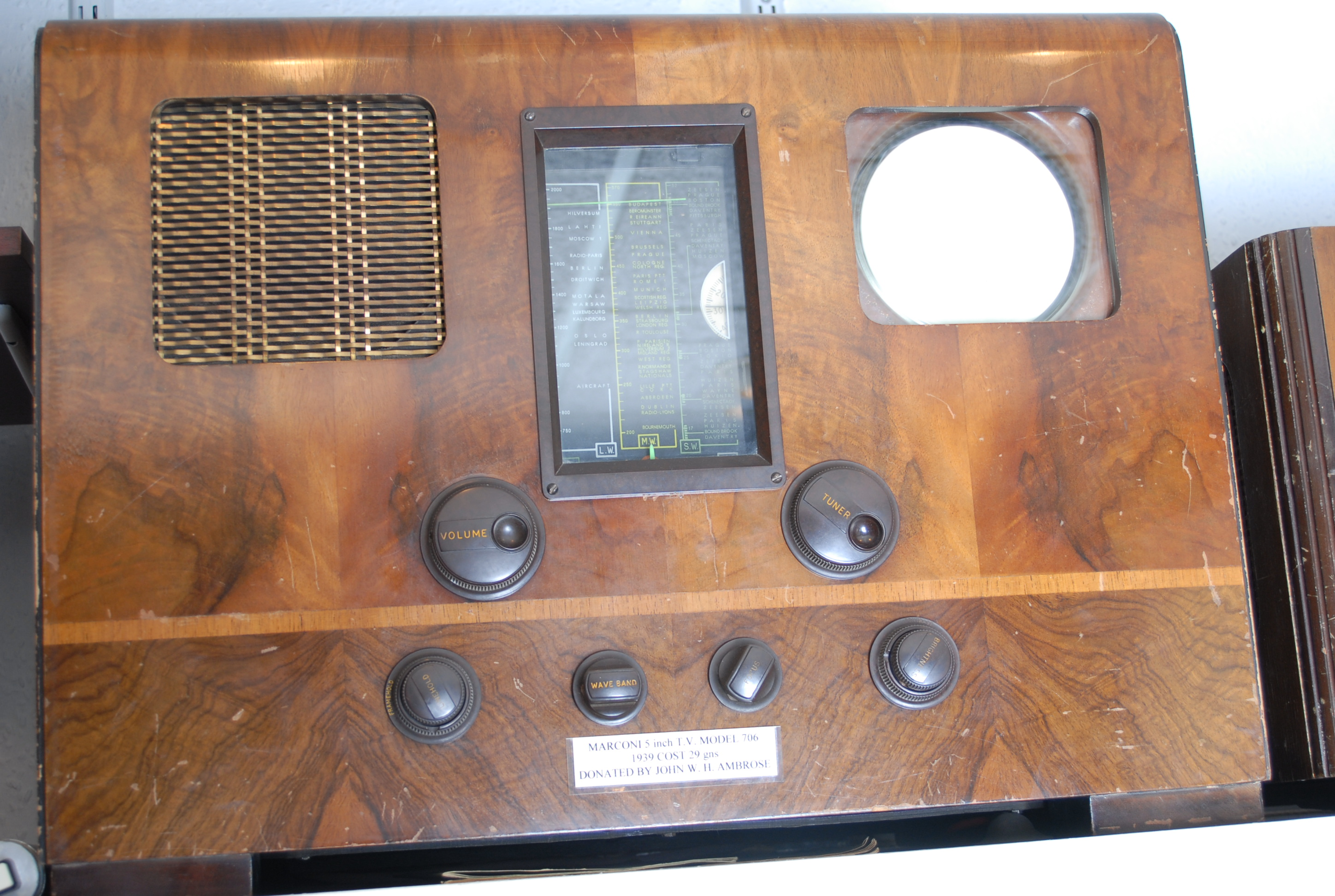 This version one was of Marconi's first televisions, the screen is very small