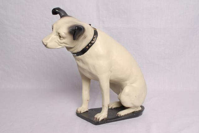 "Nipper was a real dog, his master painted a picture of him listening to music, and called it ""His Masters Voice"", the image has been used as an advertising trade mark for HMV ever since."