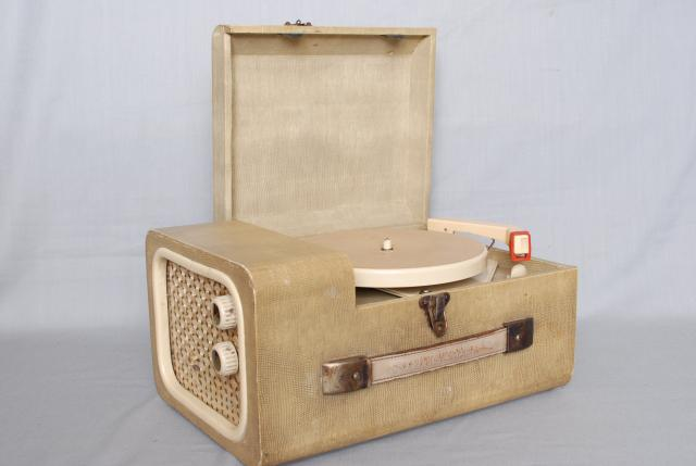 This portable record player only played 45rpm records