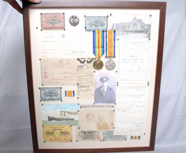This collection relates to Cecil William Lay who served in The Great War