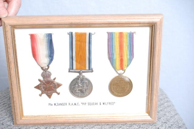 The first medal (The Star) was only issued if the named person was in active service during 1914 to 1915,  there was no conscription at the time. The other two were issued automatically at the end of the war, and were all marked with the owners name. (unlike the second world war), if the person was ...
