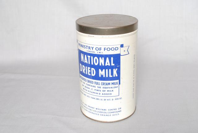 National Dried Milk Tin from 1945