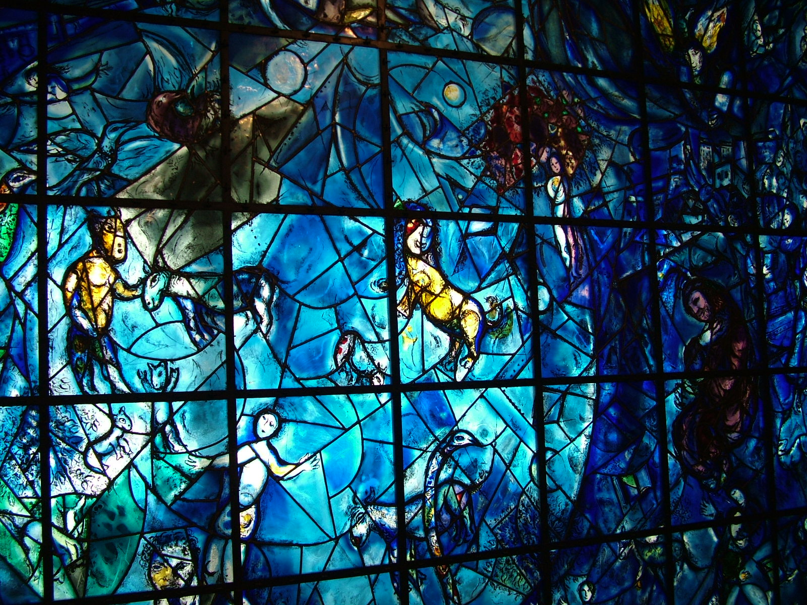 The Marc Chagall Window At The United Nations Headquarters