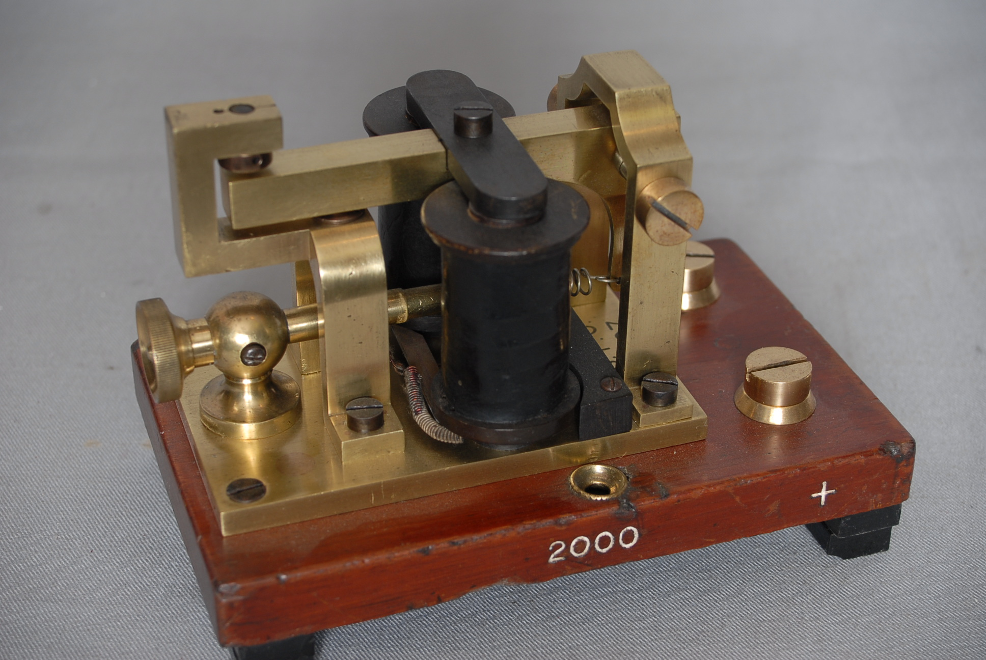 Receiving instrument for Morse code, invented by CC Vyle in the late 1800's and was in use until the 1960's.
