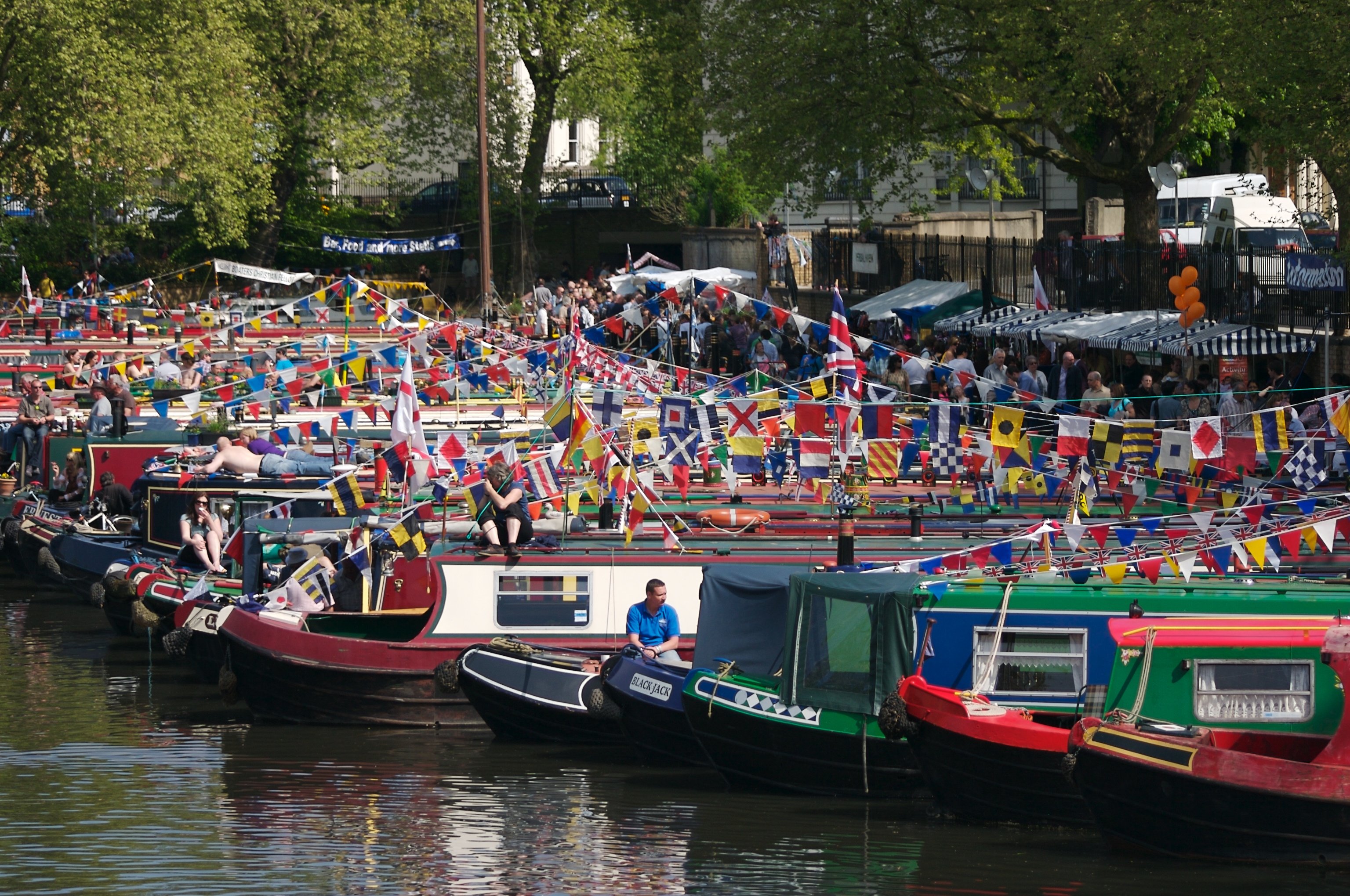 The Canalway Cavalcade is a gathering of canal boats held at Little Venice in London. These shots are from May 2009.