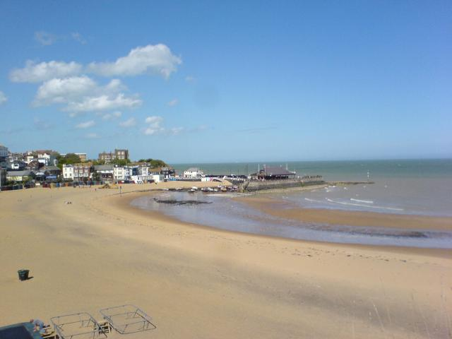 Sunny, windy day in Viking Bay, Broadstairs.