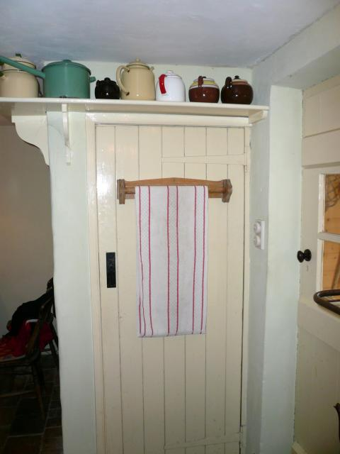 1940s door with shelf