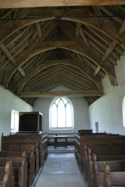 Langley Chapel in Shropshire is remarkable in that the interior is largely unchanged since the early 16th century.