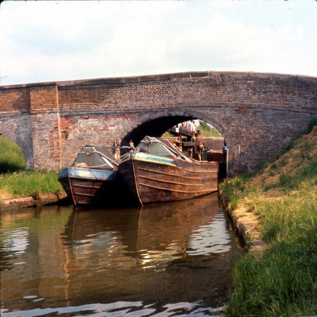 Canal bridge boats c1960.