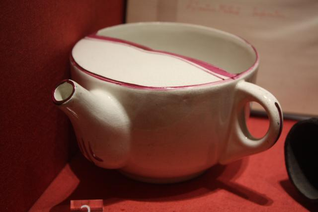Creamware, used for feeding semi-liquid food