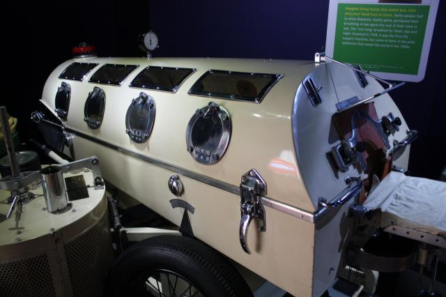 Iron lungs were built in car factories. In 1938 Lord Nuffield put his car factory to work making them for polio patients and offeed one free to any hospital in Britain.