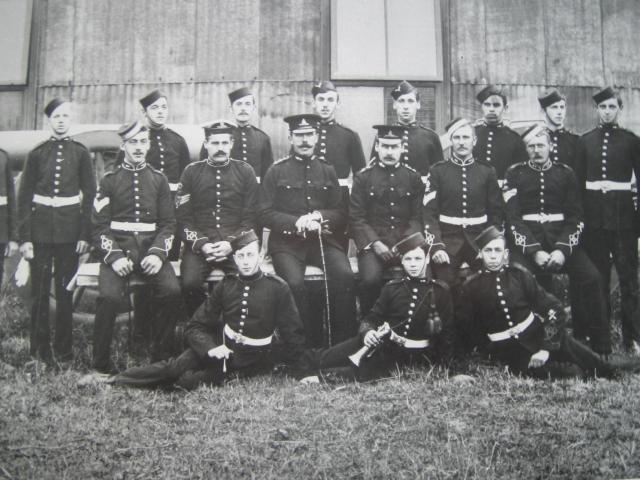 The Royal Artillery at the Grays TA base. Early 1900's.
