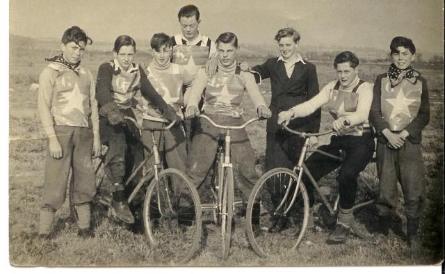 Informal group of boys from Grays set up their own club and race track on the marshes near to Tilbury Docks in the 1950's.