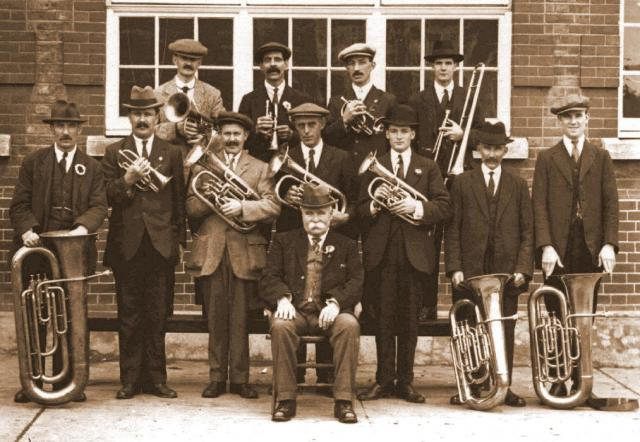 The Tilbury Railwaymens' Band, circa 1919.