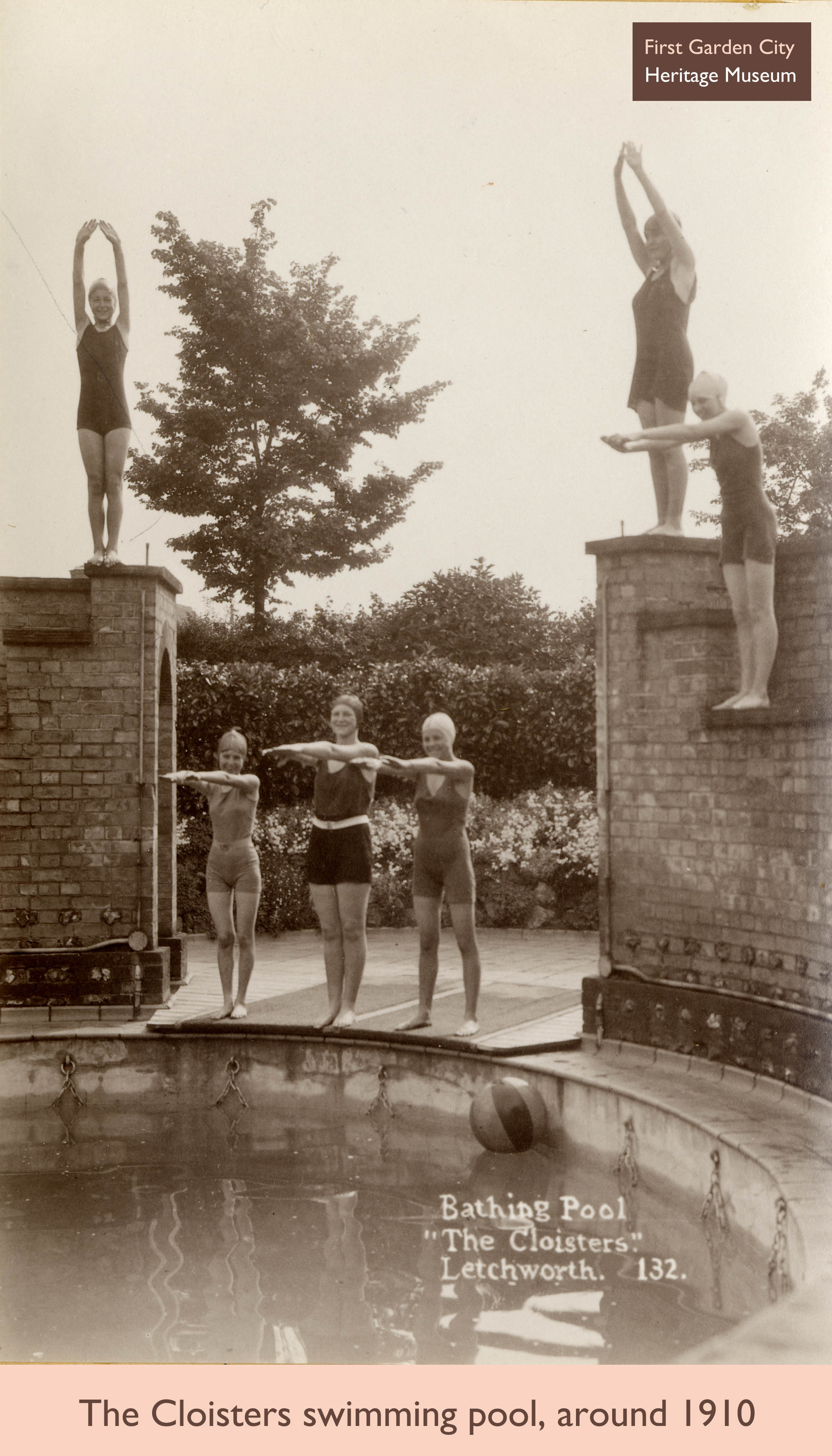 The cloisters swimming pool e2bn gallery for Letchworth swimming pool prices