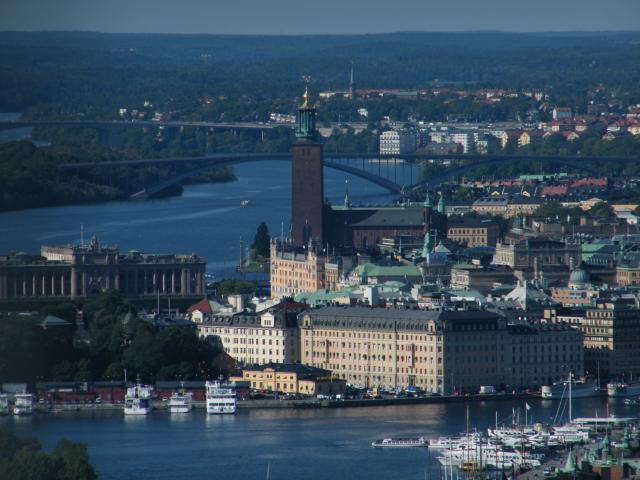 Stockholm as seen from above. Photos taken from the top of the TV tower, Kaknästornet.