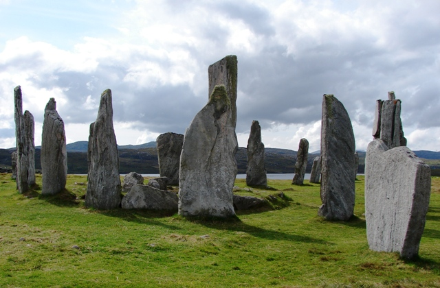 Some of the stones which make up the Callanish Stone Circle on the Isle of Lewis, Scotland