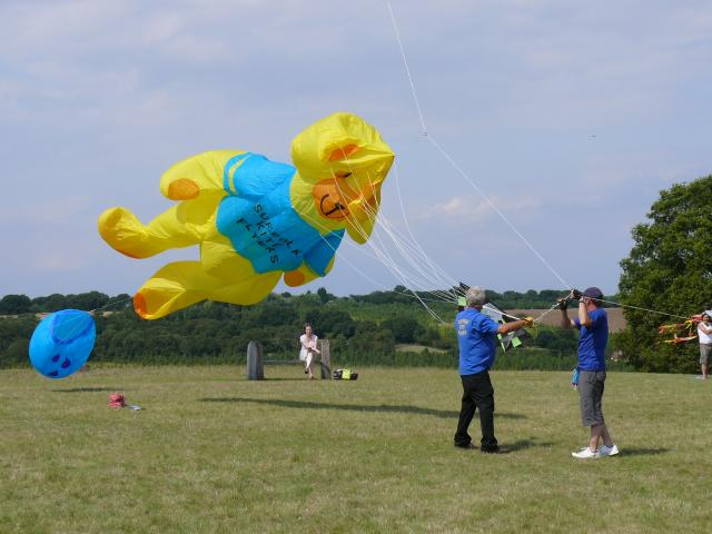 Photograph taken at a kite flying day at Hyde Hall in Essex.