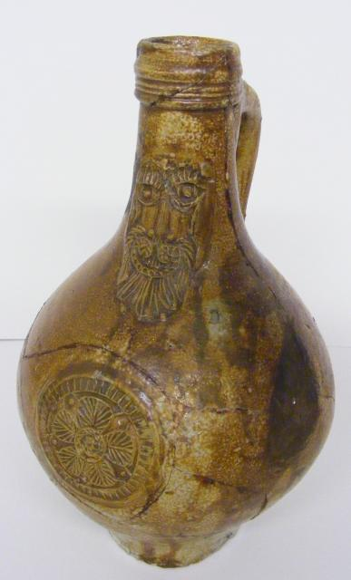 Many of these decorated beer bottles were found on the site of Mark Hall manor house.